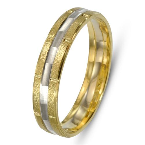 Two Tone 14k Gold Stardust Wedding Ring - Baltinester Jewelry