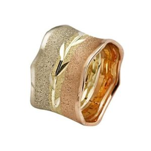 14k Tri-Color Gold Wedding Ring - Baltinester Jewelry