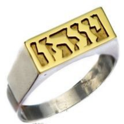 Silver and Gold Name Ring - Baltinester Jewelry