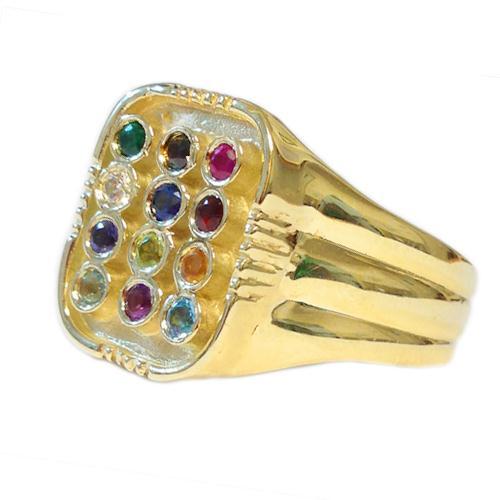 14k Gold Men's Choshen Ring - Baltinester Jewelry