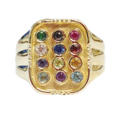 14k Gold Men's Choshen Ring 2 - Baltinester Jewelry