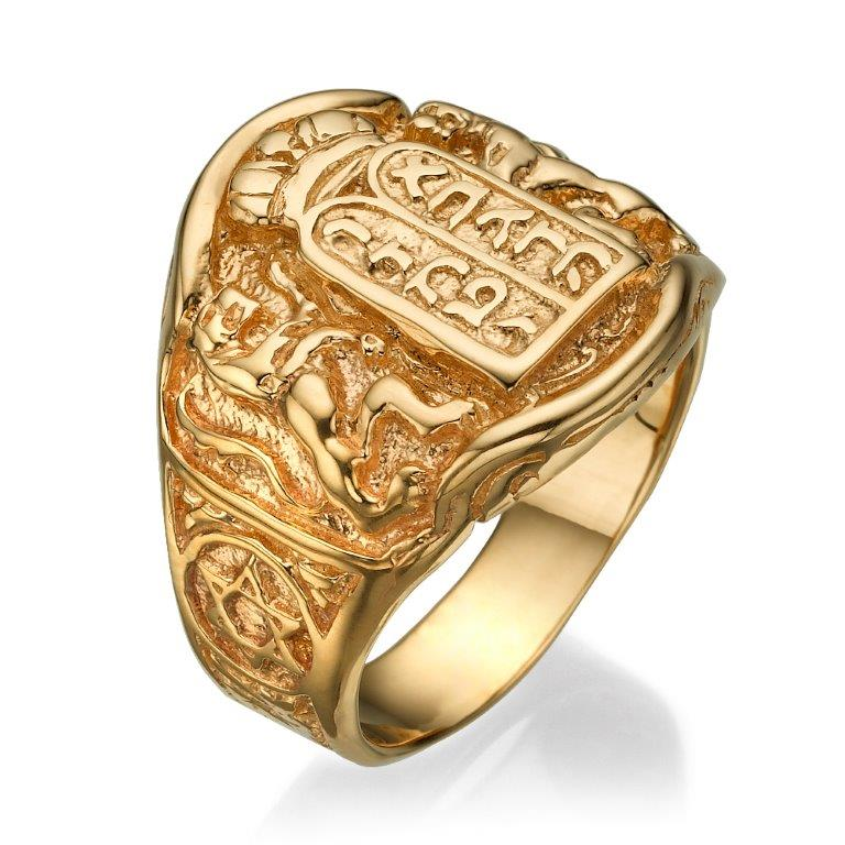 14k Gold Ten Commandments Ring - Baltinester Jewelry