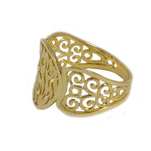14k Gold Decorative Shema Yisrael Ring 2 - Baltinester Jewelry
