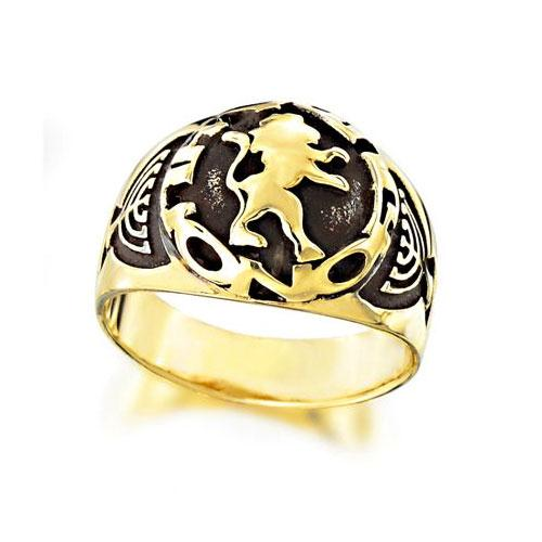 Lion of Judah 14K Gold Men's Ring - Baltinester Jewelry