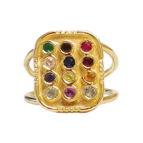14k Gold Hoshen Ring 2 - Baltinester Jewelry