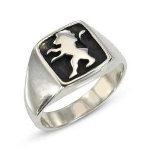 Lion of Judah Oxidized Sterling Silver Ring - Baltinester Jewelry
