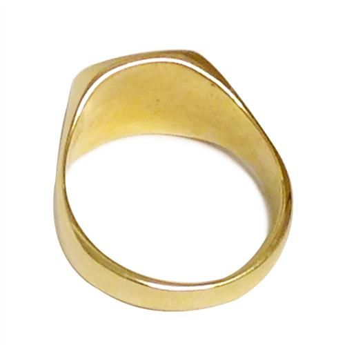 14k Gold Glossy and Matte Finished Hai Ring 2 - Baltinester Jewelry