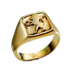 14k Gold Lion of Judah Ring - Baltinester Jewelry