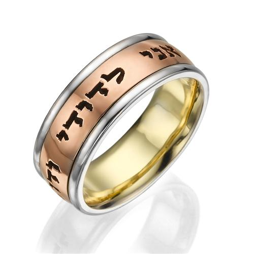 Comfort Fit Ani Ledodi Wedding Ring in 14k Rose, White and Yellow Gold - Baltinester Jewelry
