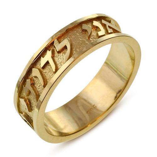 Ani Ledodi Love Ring 14k Yellow Gold - Baltinester Jewelry