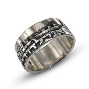Sterling Silver Vintage Inspired Jerusalem Ring - Baltinester Jewelry