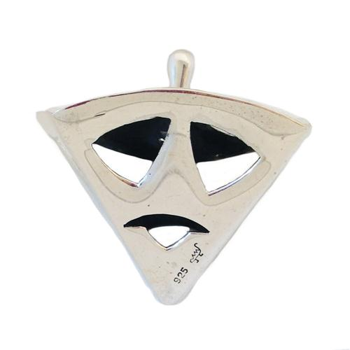 Sterling Silver Triangular Hanukkah Dreidel 2 - Baltinester Jewelry
