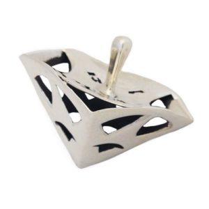 Sterling Silver Triangular Hanukkah Dreidel - Baltinester Jewelry
