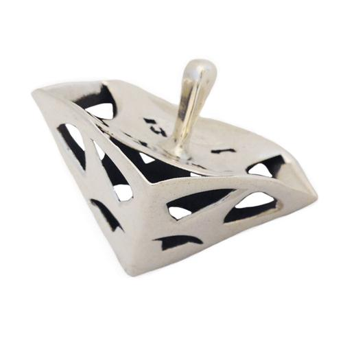 Sterling Silver Triangular Hanukkah Dreidel - Baltinester Jewelry