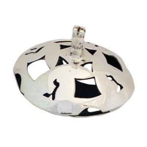 Sterling Silver Round Cutout Hanukkah Dreidel - Baltinester Jewelry