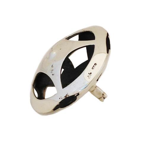 Sterling Silver Round Cutout Hanukkah Dreidel 2 - Baltinester Jewelry