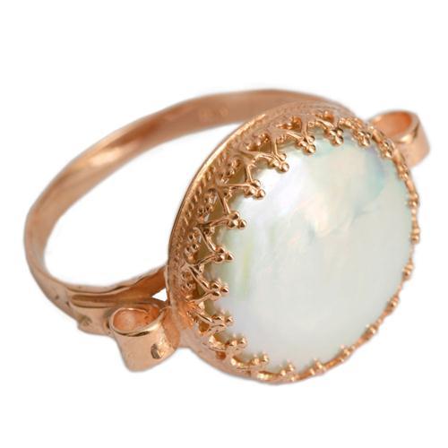 Rose Gold Yemenite Pearl Ring - Baltinester Jewelry