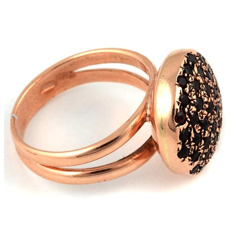 14k Rose Gold Round Garnet Ring For Her 2 - Baltinester Jewelry
