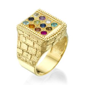 Choshen Semi-Precious Stones Men's Signet Ring - Baltinester Jewelry
