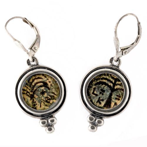 Roman Procurator Coin Silver Earrings - Baltinester Jewelry