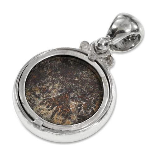 Silver Ancient Herod Agrippa Coin Pendant 2 - Baltinester Jewelry