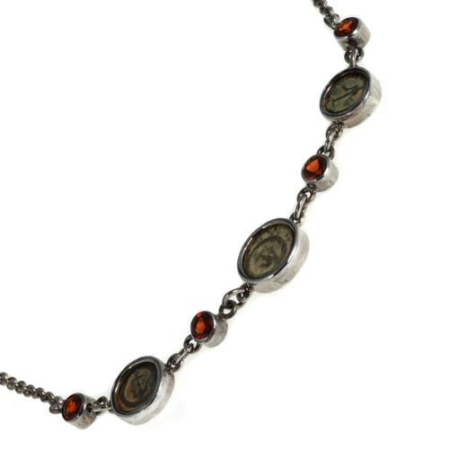 Roman Maccabean Coin Garnet Necklace 3 - Baltinester Jewelry