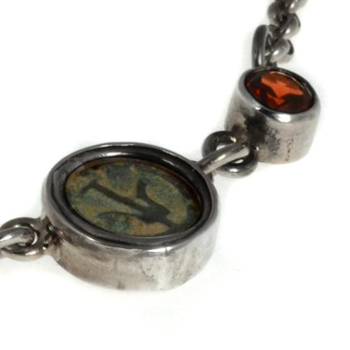 Roman Maccabean Coin Garnet Necklace 4 - Baltinester Jewelry