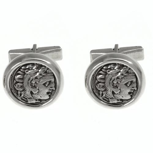 Alexander The Great Coin Cufflinks - Baltinester Jewelry