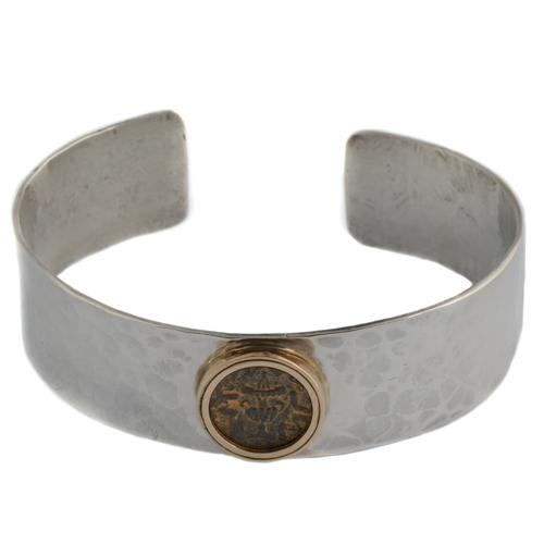 Ancient Masada Coin Silver Bracelet 2 - Baltinester Jewelry