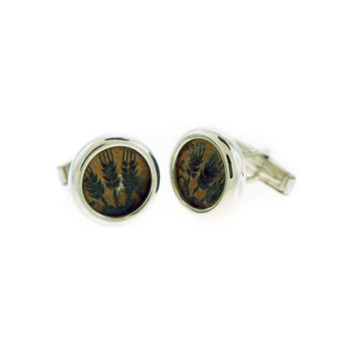 King Agrippa Coin Silver Cufflinks - Baltinester Jewelry