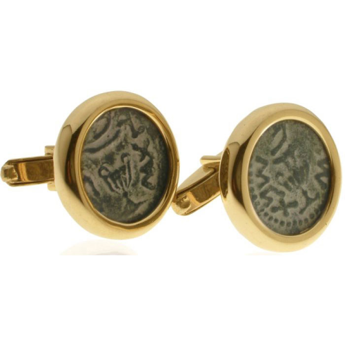 14k Gold Masada Coin Cufflinks - Baltinester Jewelry
