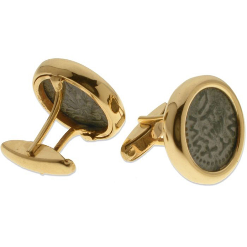 14k Gold Masada Coin Cufflinks 2 - Baltinester Jewelry
