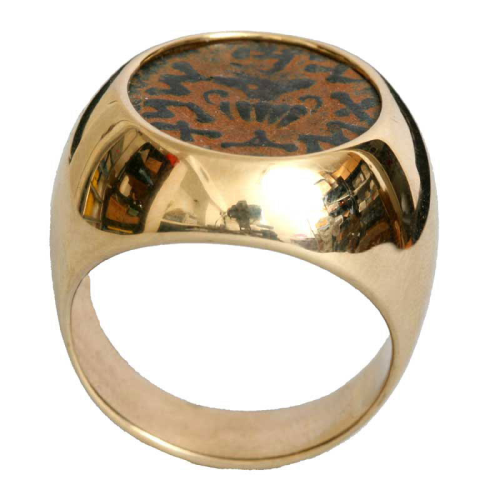 14k Gold Masada Coin Ring 3 - Baltinester Jewelry