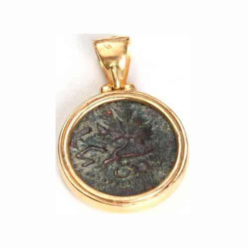 14k Gold Masada Coin Pendant 2 - Baltinester Jewelry