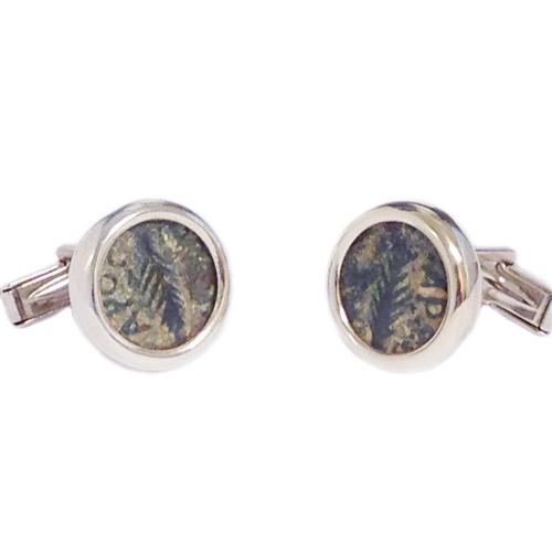 Sterling Silver Ancient Procurator Coin Cufflinks - Baltinester Jewelry
