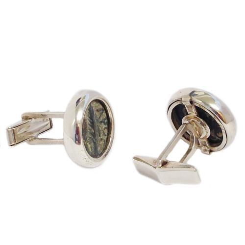 Sterling Silver Ancient Procurator Coin Cufflinks 2 - Baltinester Jewelry