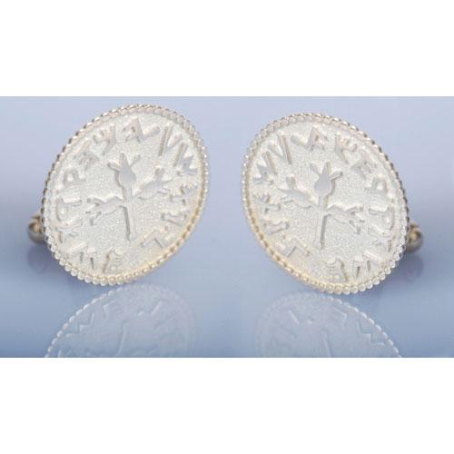 Silver Coin Design Cufflinks 3 - Baltinester Jewelry