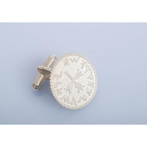 Silver Coin Design Cufflinks 4 - Baltinester Jewelry