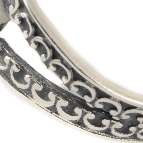 Silver Split Band Roman Glass Ring 4 - Baltinester Jewelry