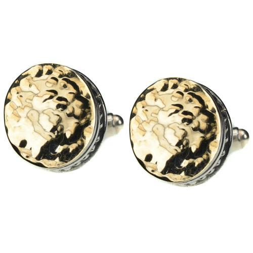 Silver & Hammered Gold Cufflinks - Baltinester Jewelry