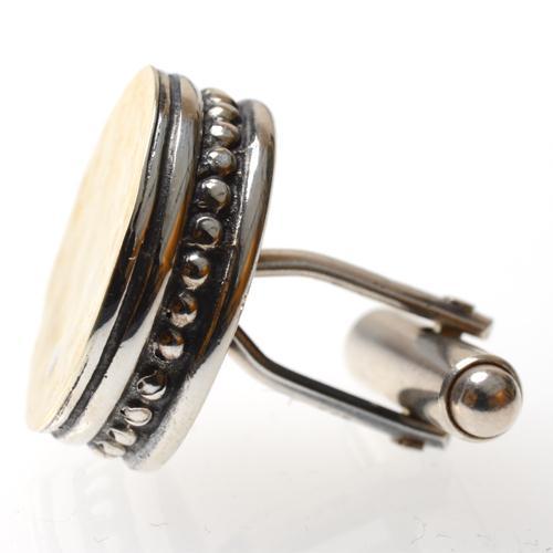 Silver & Hammered Gold Cufflinks 2 - Baltinester Jewelry
