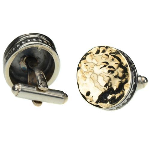 Silver & Hammered Gold Cufflinks 3 - Baltinester Jewelry
