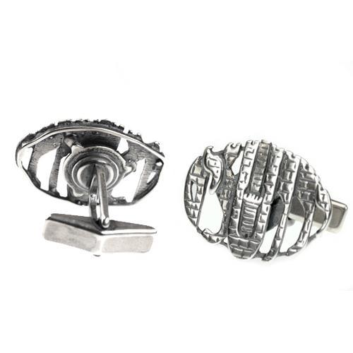 Sterling Silver Jerusalem Cufflinks 2 - Baltinester Jewelry