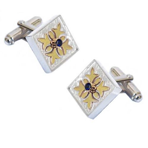 Silver and Gold Cloverleaf Cufflinks - Baltinester Jewelry