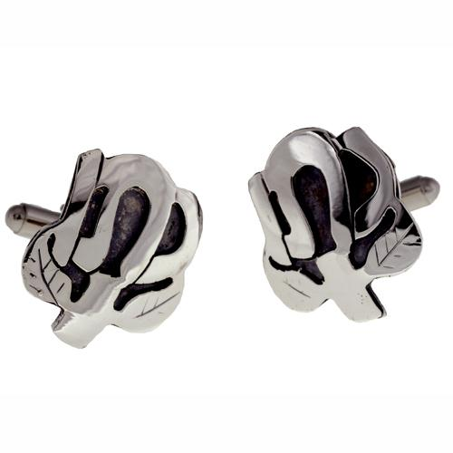 Silver Tree of Life Name Cufflinks 3 - Baltinester Jewelry