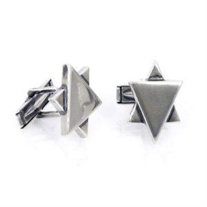 Sterling Silver Star of David Cufflinks - Baltinester Jewelry