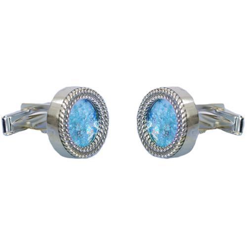 Silver Roman Glass Cufflinks - Baltinester Jewelry