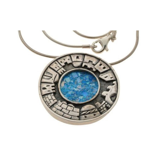 Roman Glass Jerusalem Necklace - Baltinester Jewelry