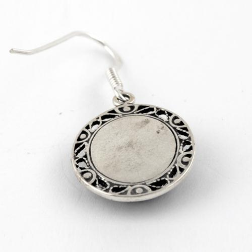 Roman Glass Embossed Earrings 2 - Baltinester Jewelry