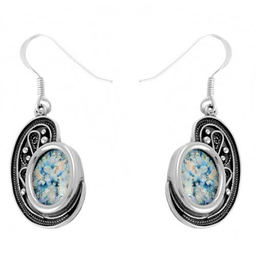 Roman Glass Shell Shape Earrings - Baltinester Jewelry